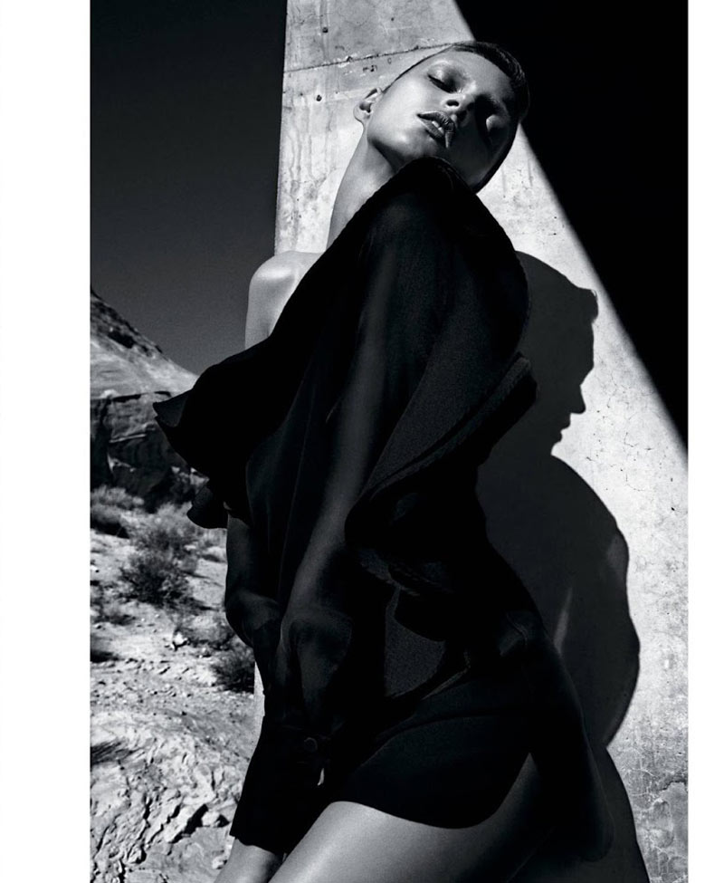 Anja Rubik Models Sleek Looks for T Magazine Spring 2013 by Mario Sorrenti