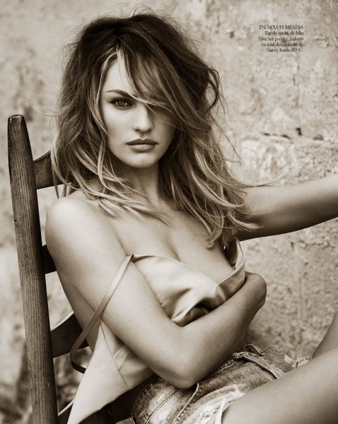 Candice Swanepoel for Vogue Spain by Mariano Vivanco (2013)