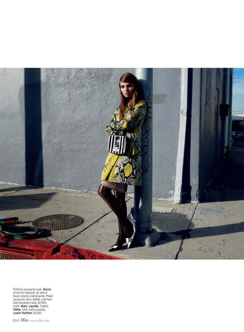 Carola Remer is Mod Chic for Elle US April 2013 by Horst Diekgerdes