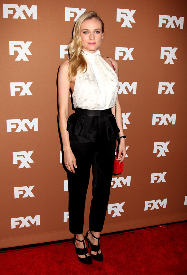 Diane Kruger in Jason Wu at the 2013 FX Upfront Bowling Event