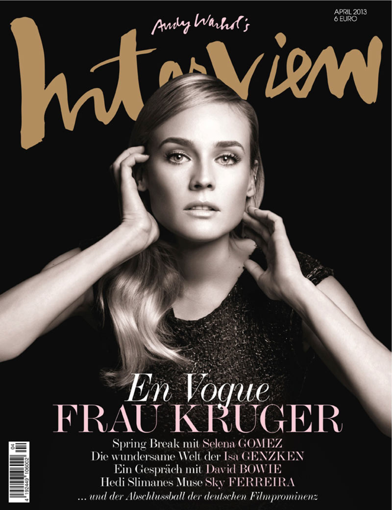 Diane Kruger and Sky Ferreira Grace the April 2013 Covers of Interview Germany