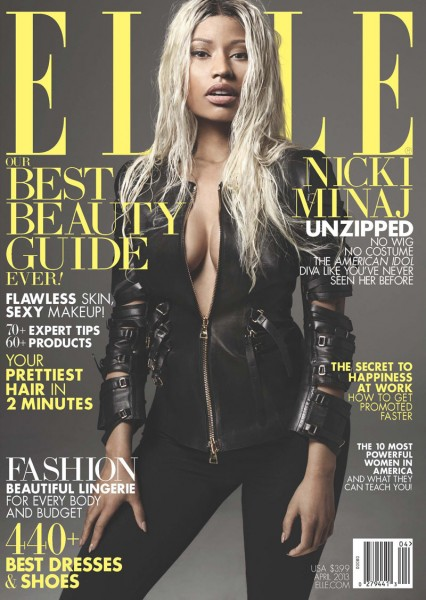 Nicki Minaj Gets a Make-under for Elle US' April 2013 Cover Shoot