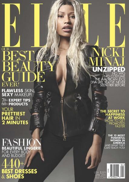 Nicki Minaj Gets a Make-under for Elle US' April 2013 Cover Shoot