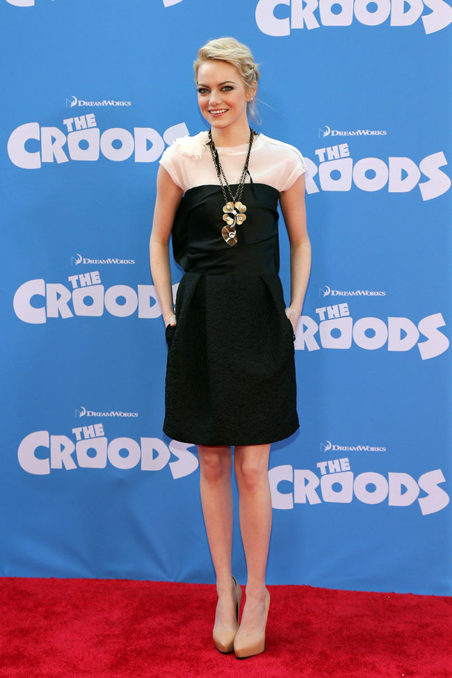 "Emma Stone in Lanvin at ""The Croods"" New York Premiere"