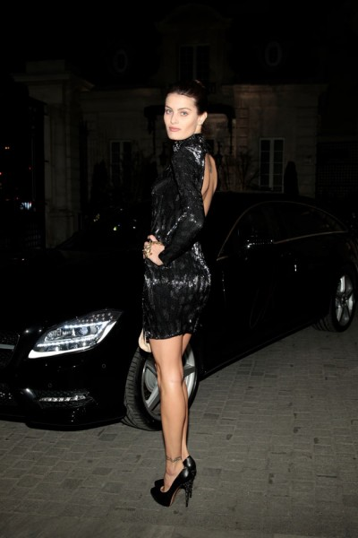 Isabeli Fontana in Roberto Cavalli at the Launch of CR Fashion Book Issue 2