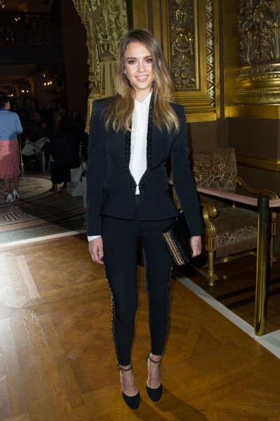 Jessica Alba in Stella McCartney at the Stella McCartney Fall/Winter 2013 Show
