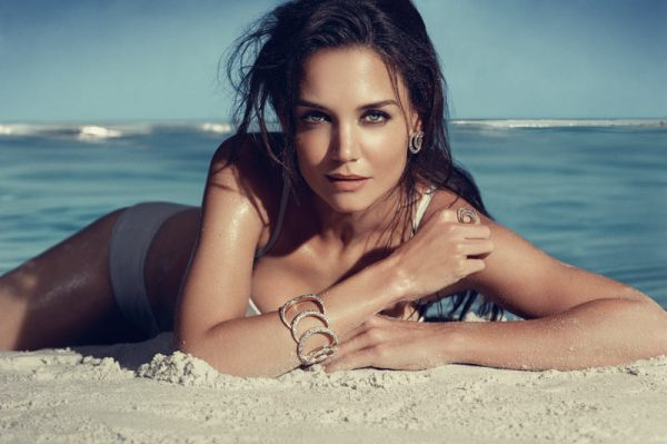 "Katie Holmes Smolders for the H. Stern ""Iris"" Collection Campaign"