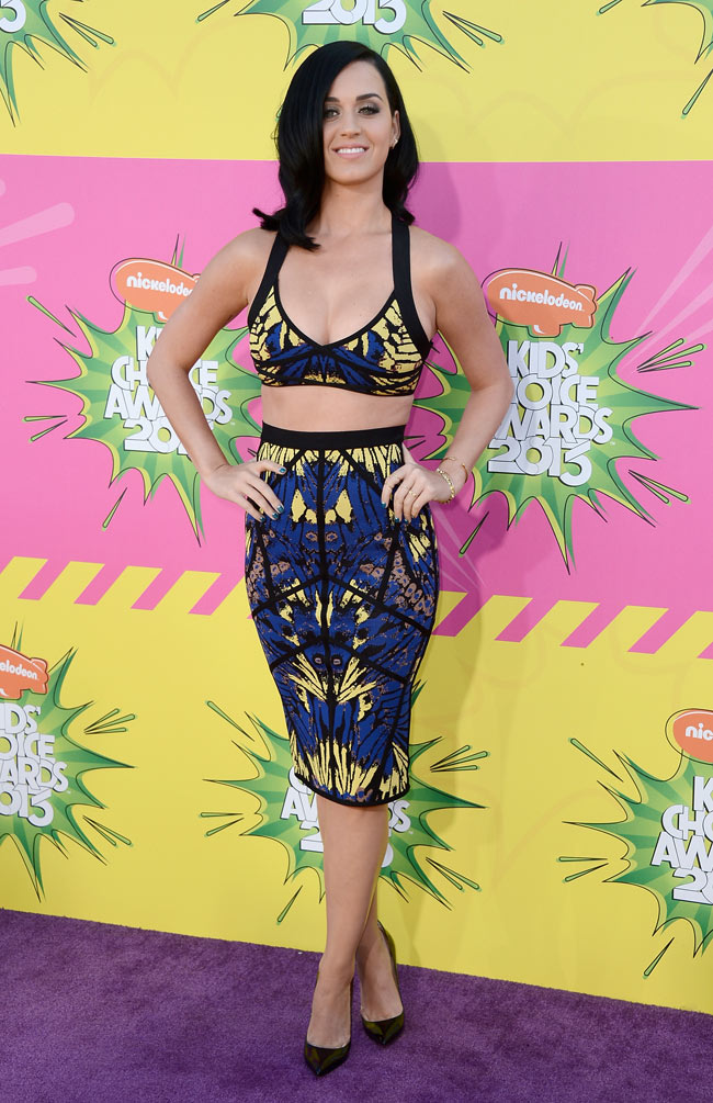 Katy Perry in Herve Leger at the 26th Annual Kids' Choice Awards