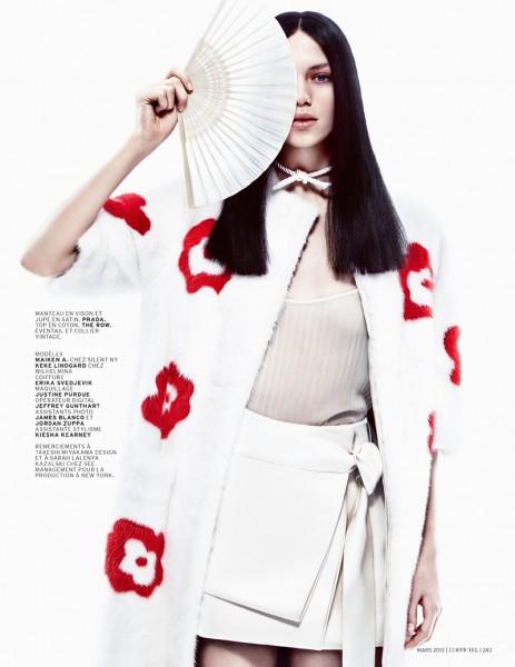 Keke Lindgard and Maiken Abma Sport Japanese Inspired Style for L'Officiel Paris, Shot by Jason Kim