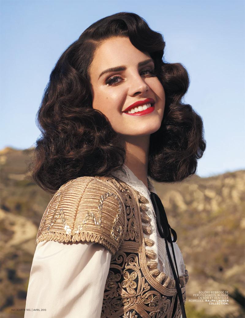 Lana Del Rey By Chris Nicholls For Fashion Magazine: Lana Del Rey Gets Romantic For L'Officiel Paris' April
