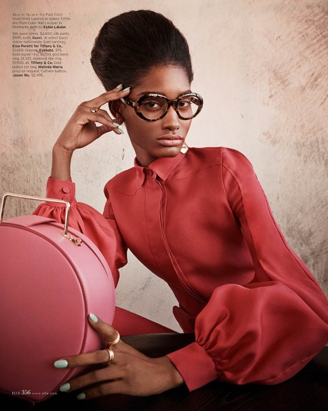 Melodie Monrose is 60s Glam for Mariano Vivanco in Elle US April 2013