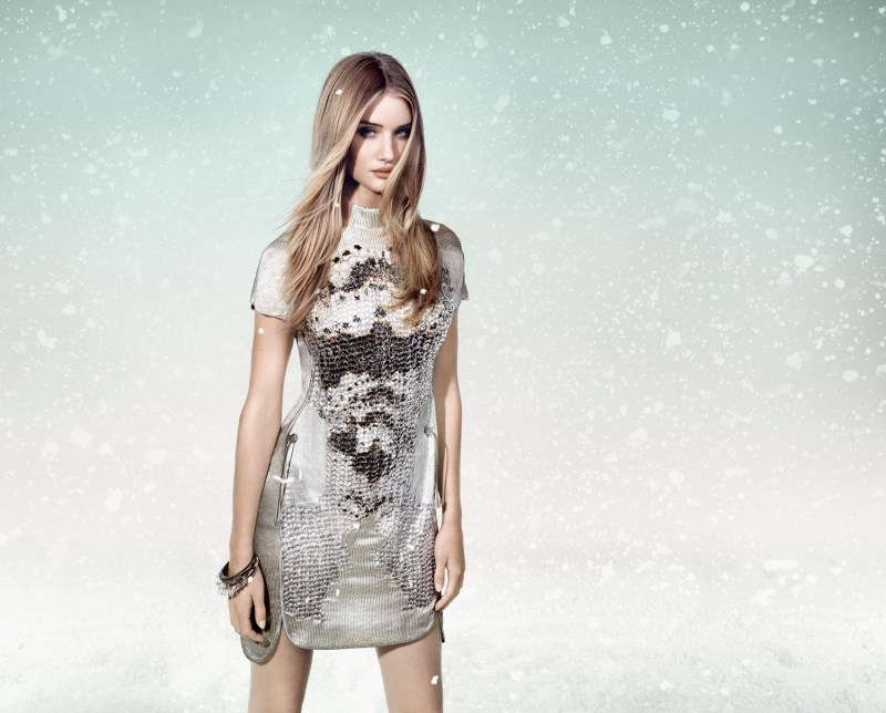 Rosie Huntington-Whiteley is a Snow Beauty for Animale's Winter 2013 Campaign
