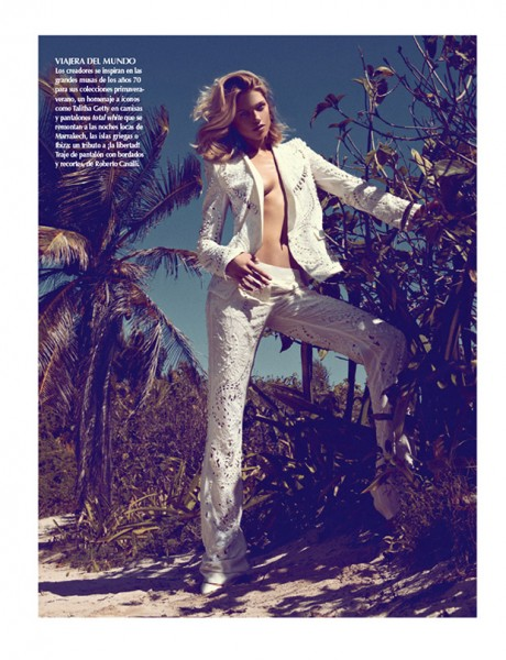 Hana Jirickova Gets Tropical for Vogue Latin America's 2013 April Cover Shoot