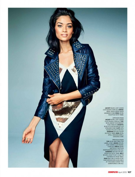 Shanina Shaik Stars in Cosmopolitan Australia's April Issue by Steven Chee