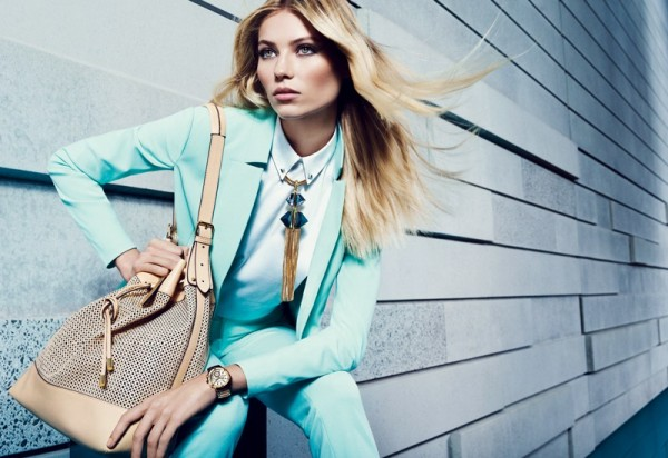 Vika Falileeva Dons Vibrant Pastels for Vince Camuto's Spring 2013 Campaign
