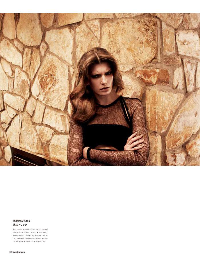 Valerija Kelava is Suburban Chic for Numéro Tokyo April 2013 by Laurie Bartley