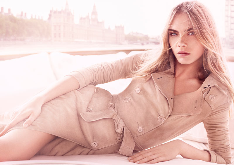 "Cara Delevingne Fronts Burberry ""Body Tender"" Fragrance Campaign"