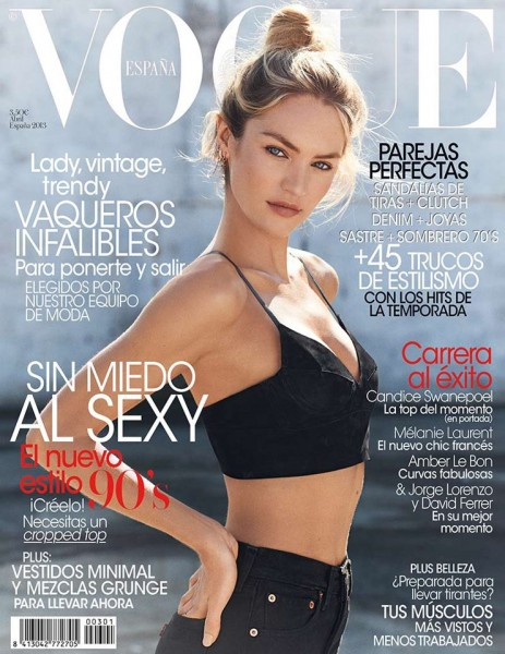 Candice Swanepoel Keeps it Simple for Vogue Spain's April 2013 Cover