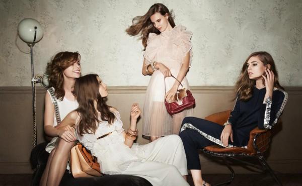 Nadja Bender, Caroline Brasch Nielsen, Rosie Tapner and Tilda Lindstam Star in Chloe Spring 2013 Campaign by Glen Luchford