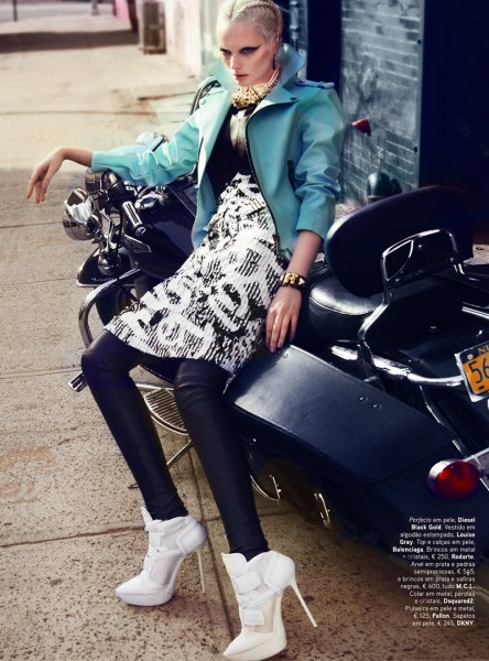 Chrystal Copland is Biker Chic for Kevin Sinclair In Vogue Portugal April 2013