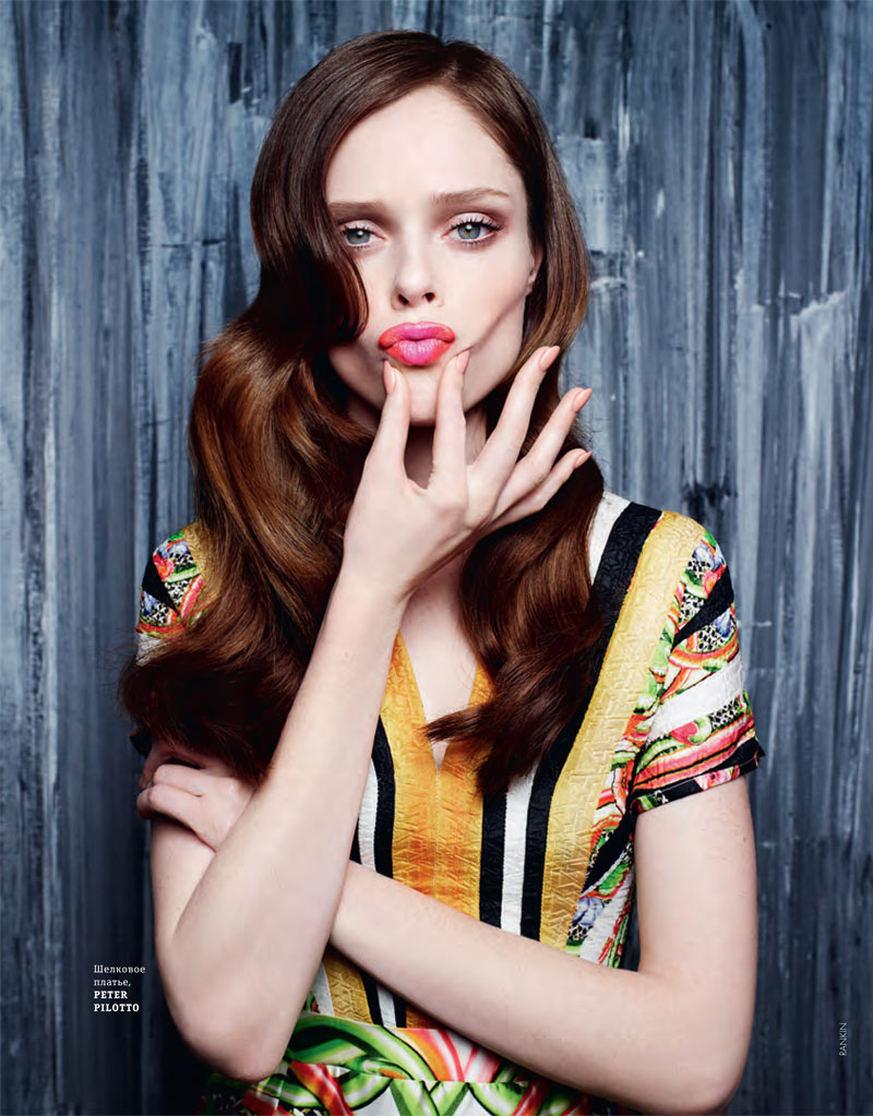 SERVING FACE: Being a high fashion model is also about being able to pull of daring poses. Take for instance, Coco Rocha who can serve up a glamorous yet quirky image. Photo: Coco Rocha for Elle Ukraine by Rankin
