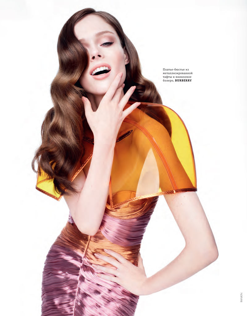 Coco Rocha Models Spring Trends for Elle Ukraine's March Cover Shoot by Rankin
