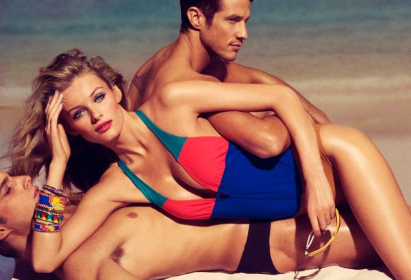 Edita Vilkeviciute Sizzles on the Beach for Allure's March Issue by Tom Munro