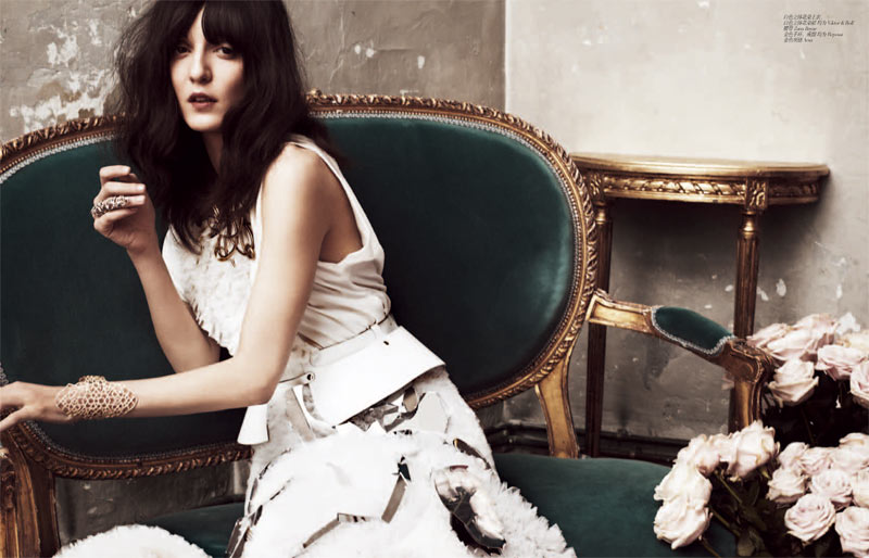 Irina Lazareanu Sports Romantic Style for Femina China