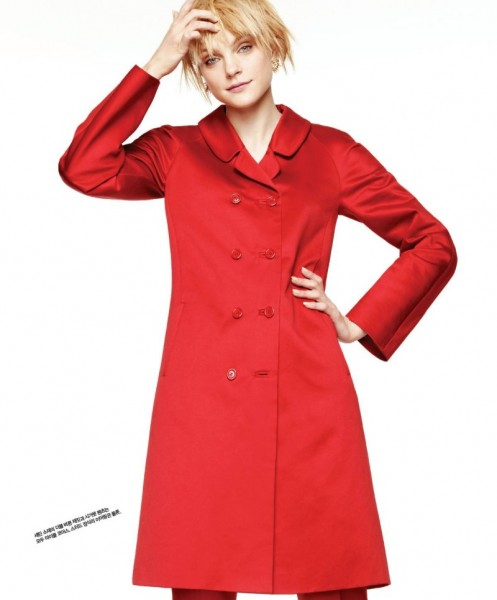 Jessica Stam Shines in Singles Korea's March Issue