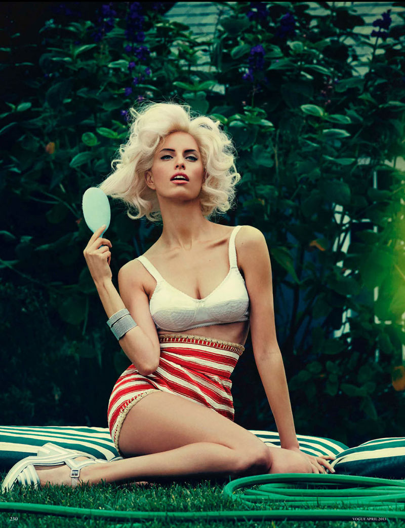 Karolian Kurkova by Giampaolo Sgura for Vogue Germany (2013)