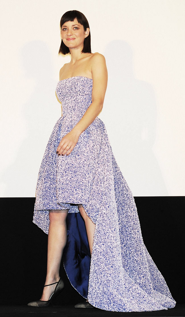 "Marion Cotillard in Dior at the ""Rust and Bone"" Tokyo Premiere"