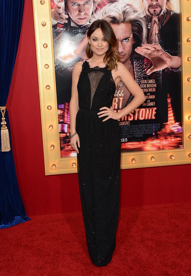 """Olivia Wilde in Gucci at """"The Incredible Burt Wonderstone"""" LA Premiere"""