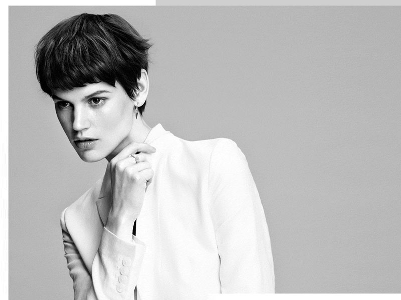 "Saskia de Brauw Gets Moving for H&M's ""White on White"" Style Update"