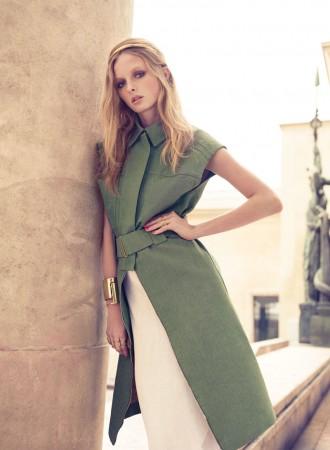 Asa Tallgard Shoots Eva Downey in Paris for Elle Romania's April 2013 Cover Shoot