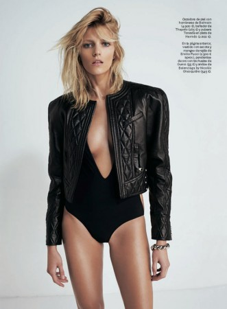 Anja Rubik is Sexy Cool for Eric Guillemain in S Moda's April 2013 Cover Shoot