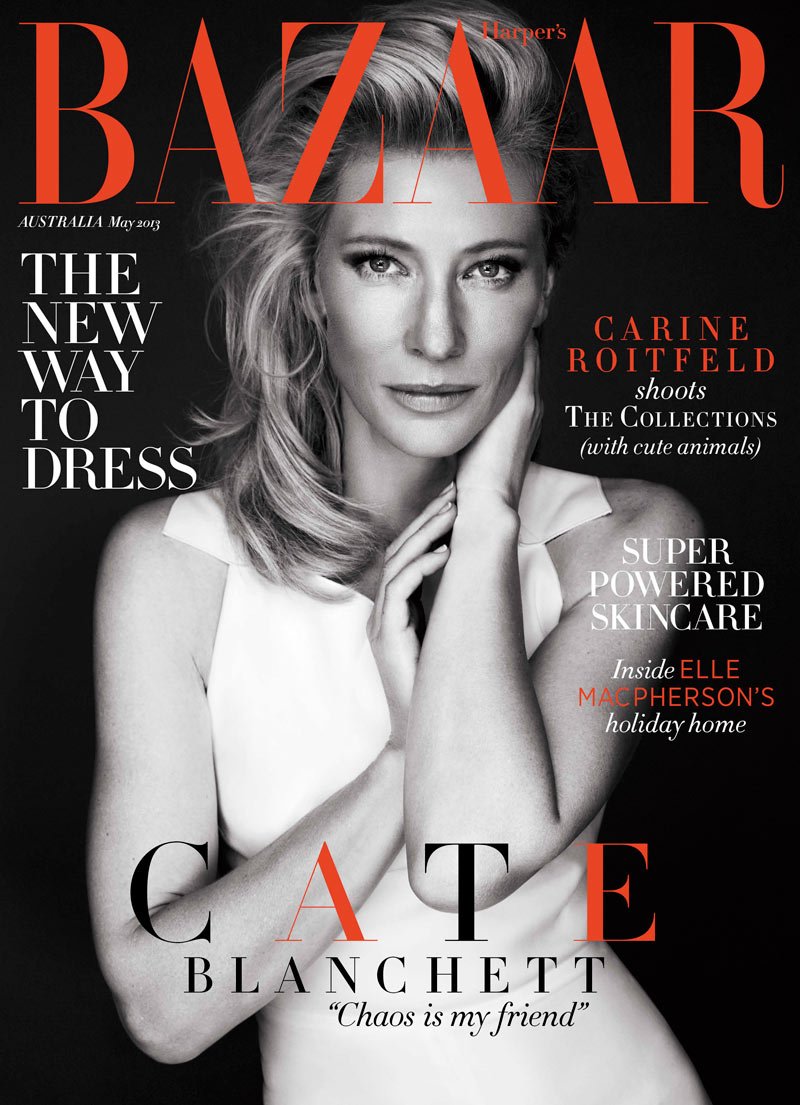 Cate Blanchett Graces Harper's Bazaar Australia May 2013 Cover