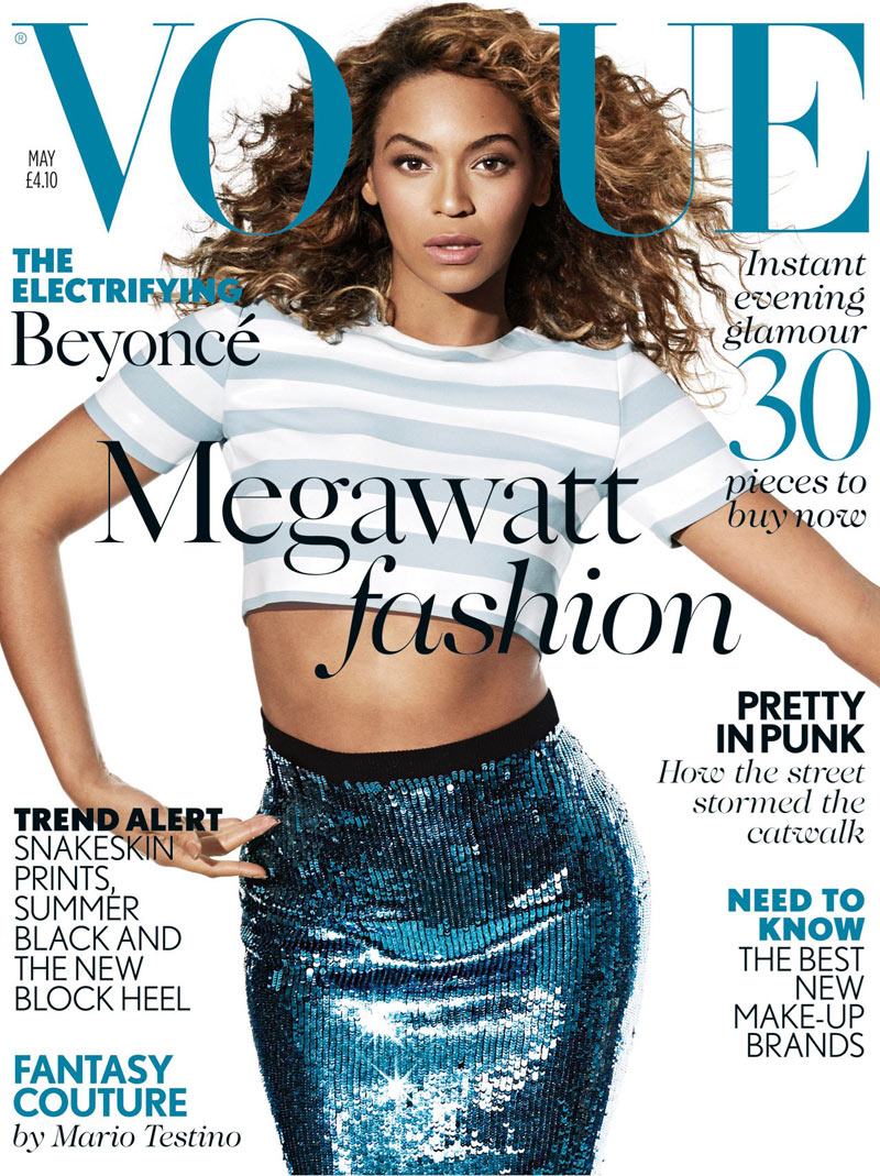 Beyonce Shines for Vogue UK's May 2013 Cover