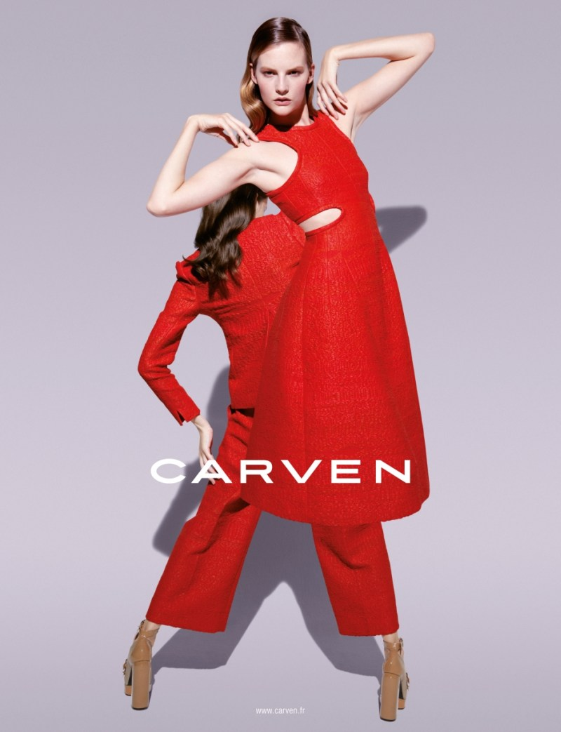 Sara Blomqvist Shows Two Sides for Carven's Spring 2013 Campaign by Viviane Sassen
