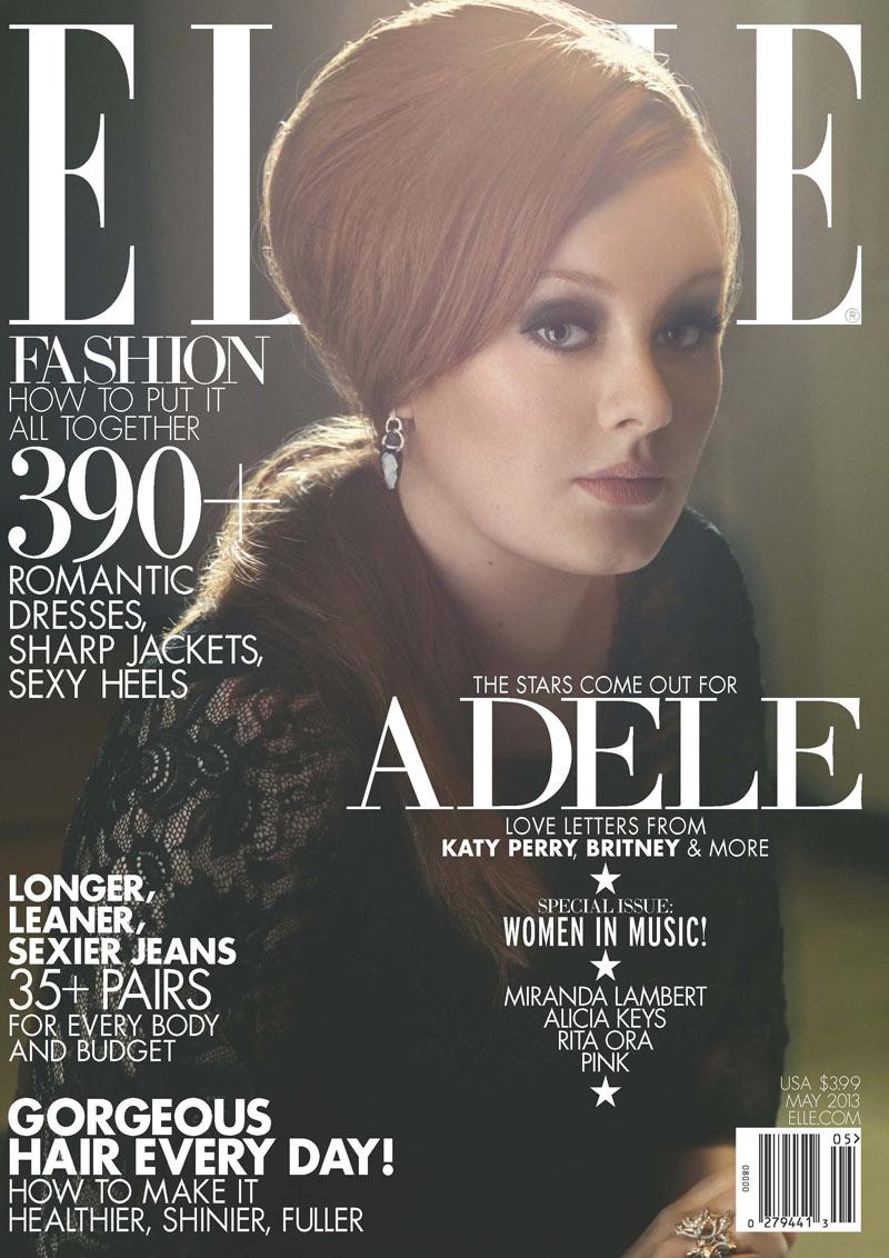 Adele Graces Elle US' May 2013 Cover in Alberta Ferretti