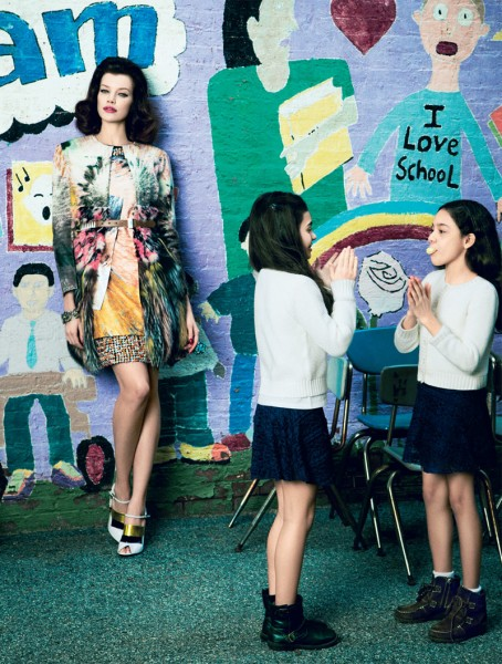 Sarah Ruba Plays a Chic Teacher in Elle Mexico's April Issue by Yossi Michaeli