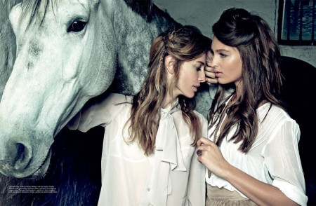 Natasa Vojnovic and Georgina Stojiljkovic Star in Elle Serbia's May 2013 Cover Shoot