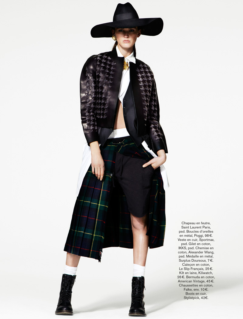 Ali Stephens Dons Buffalo Boy Style for Glamour France's May Issue by Jason Kim