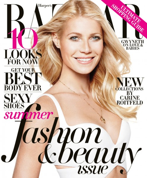 Gwyneth Paltrow Sports Balenciaga for Harper's Bazaar US May 2013 Cover