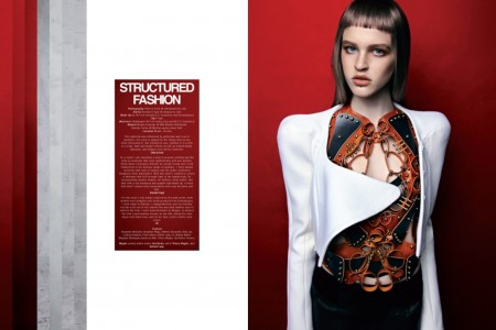 Megan and Melody Wear Structured Fashion in Kurv Magazine by Eliot & Erick