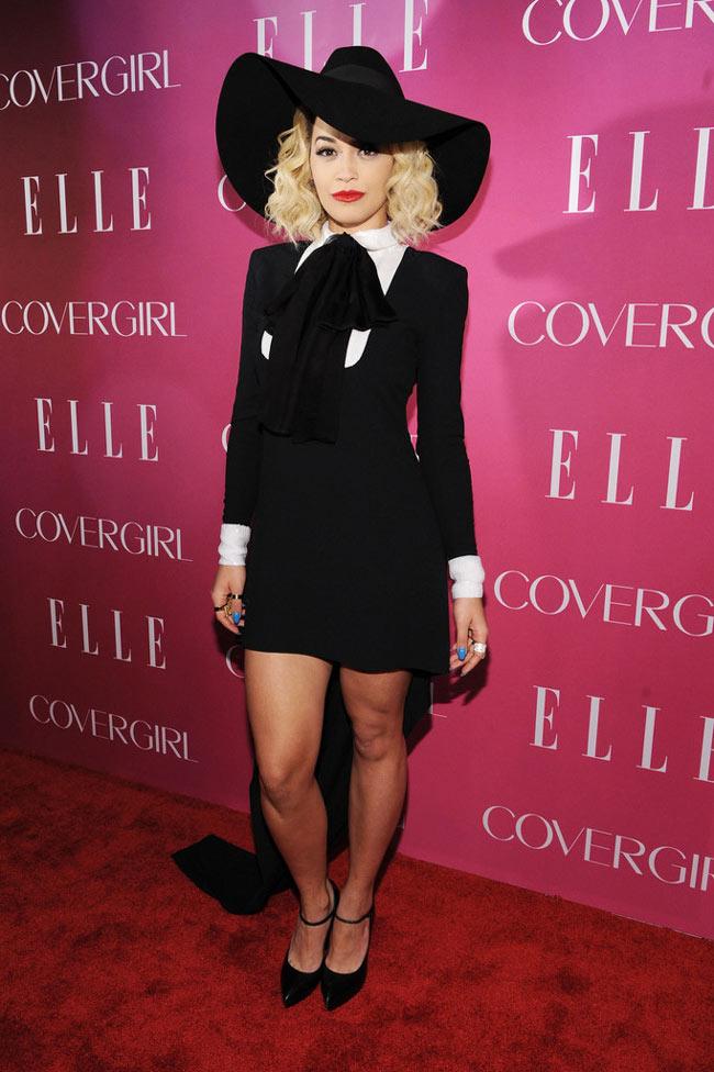 Rita Ora Sports Saint Laurent at the 4th Annual ELLE Women in Music Celebration