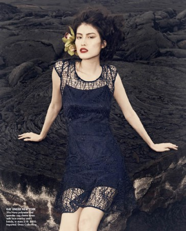 Sui He is An Island Beauty for Neiman Marcus' May 2013 Issue of The Book