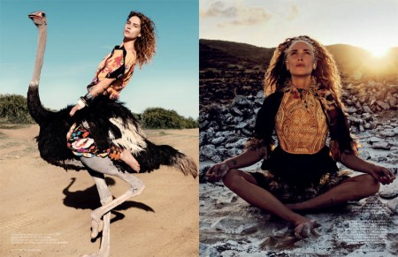 Erin Wasson is a Wild Child for Vogue Netherlands May 2013 by Petrovsky & Ramone