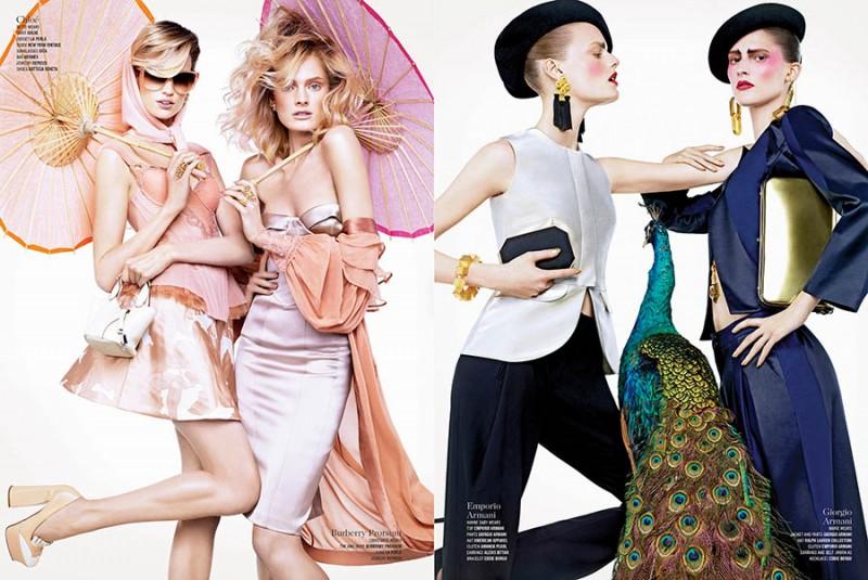Sharif Hamza Snaps Model Duos for V Magazine's 'Double Vision' Spread