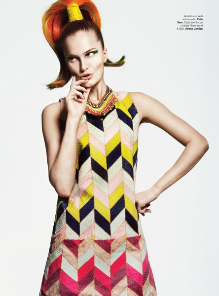 Alla Kostromicheva Has a Color Blast for Vogue Portugal May 2013 by Kevin Sinclair