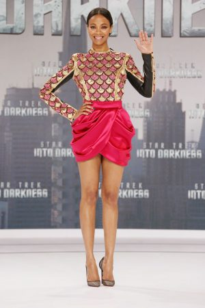 "Zoe Saldana is a Balmain Beauty at the ""Star Trek Into the Darkness"" Berlin Premiere"